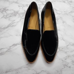 Everlane Womens The Modern Loafer Black Patent 5.5